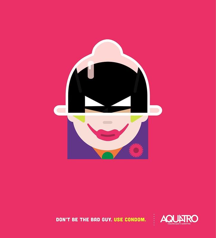 Aquatro Condoms - Batman vs Joker