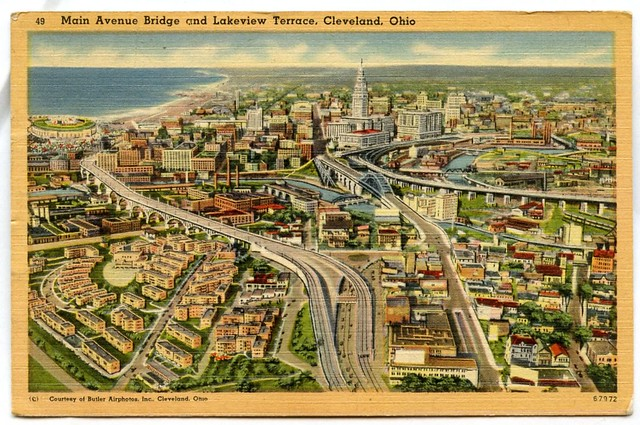 Lakeview Terrace and Main Ave Bridge Cleveland Ohio