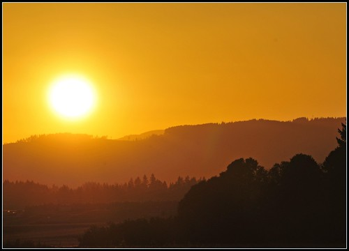 Oregon Farm Sunset