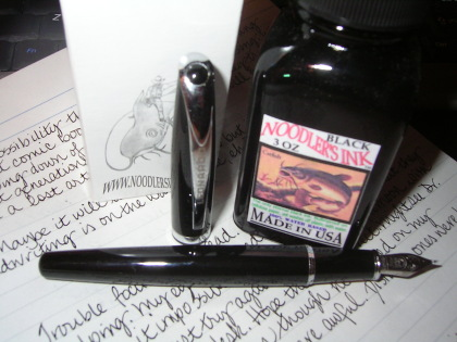 Leonardo Fountain Pen Meets Noodler's Black Ink