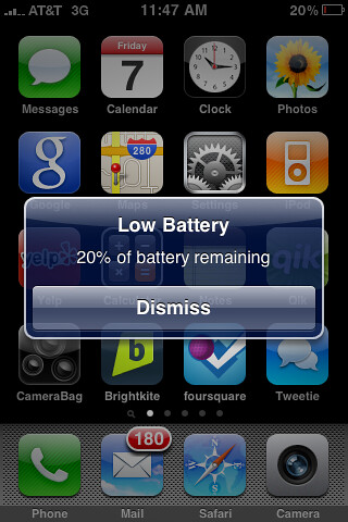 iPhone 3GS Low Battery