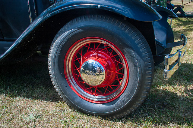 Ford hot rod front right wheel