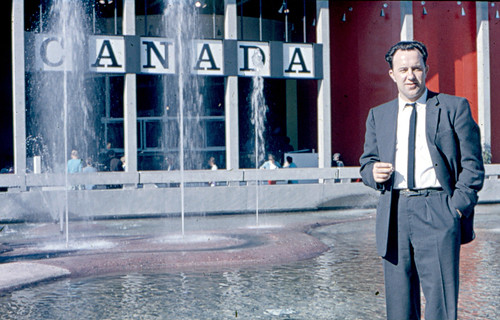 Dad at the Canada Pavilion 1962 Seattle World's fair