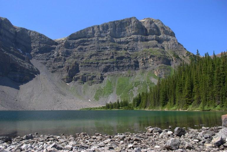 Mt. Bourgeau and Lake Bourgeau