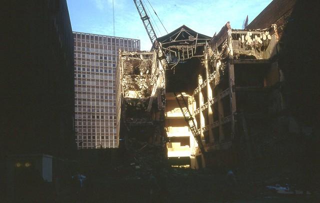 Sterling Linder being razed Nov 1968
