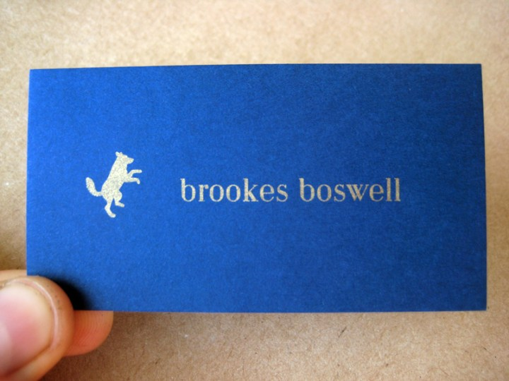 Business Card for Brookes Boswell