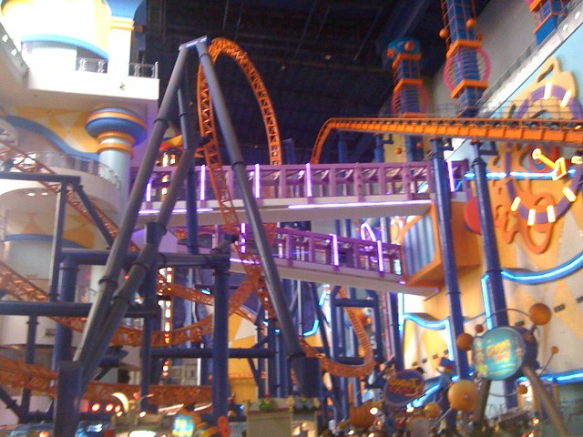 Indoor Roller Coaster At Times Square Mall Take That Mall Of America Flickr Photo Sharing