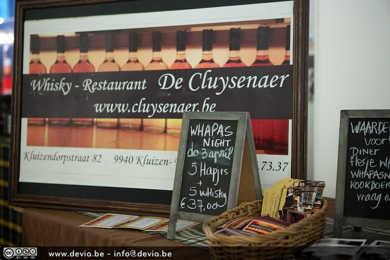 Whisky Restaurant De Cluysenaer op het Whisky Festival Gent