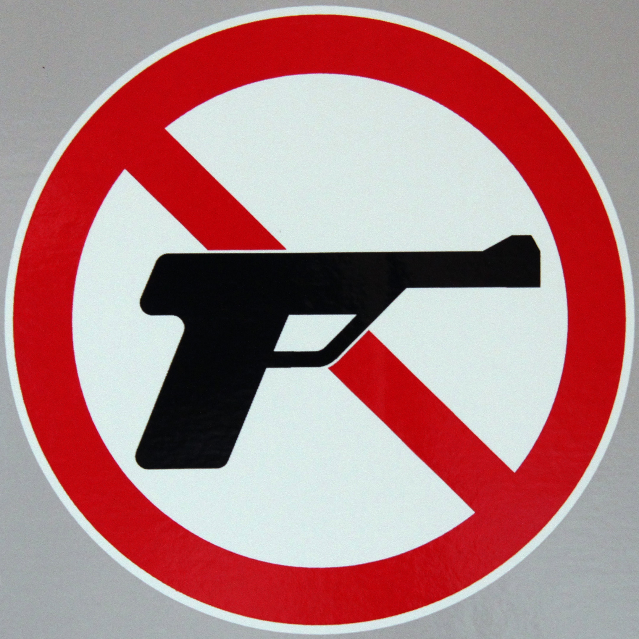 A 'no guns' sign