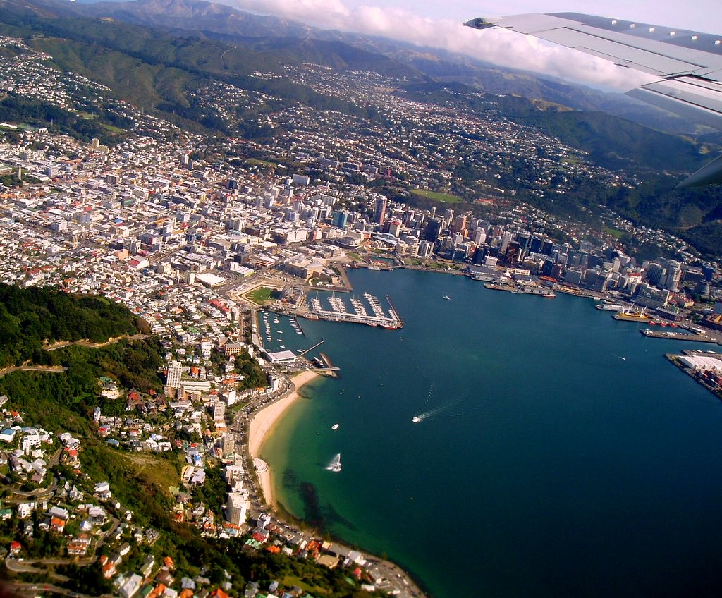 Wellington from air 15 Apr 2006