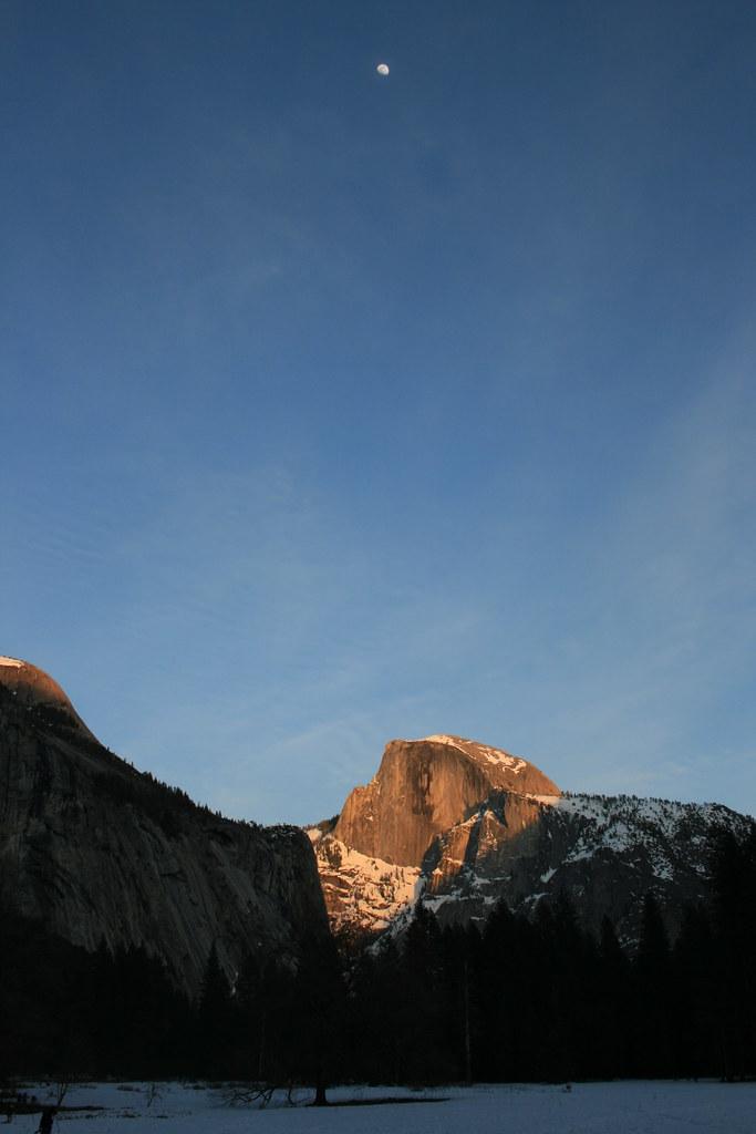 sunset half dome yosemite