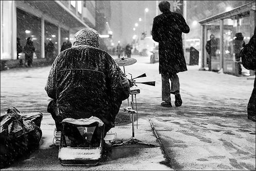 snow drummer