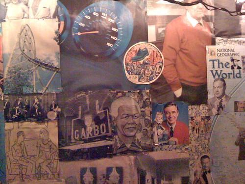 Nelson Mandela and Garbo, Detail, BenWah's Garage Art by DRheins