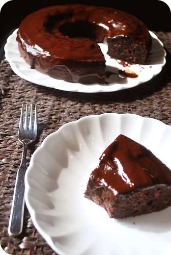 Chocolate Cinnamon Bundt Cake with Mocha Icing