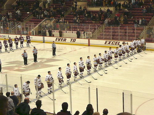 Two teams, one anthem