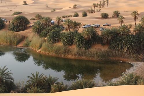 Ubari (salt) Lakes in the Sahara north of Germa, Libya