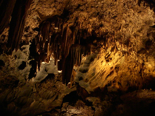 Rock formations in the California Caverns