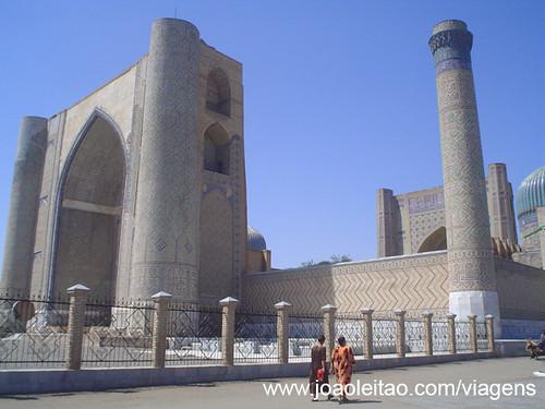 Praça do Registão em Samarcanda Uzbequistão