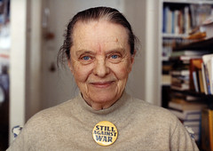 Marie Ponsot in her apartment, 2004 by dctrombley
