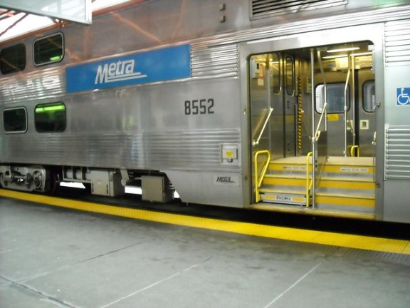 Metra car Chicago IL