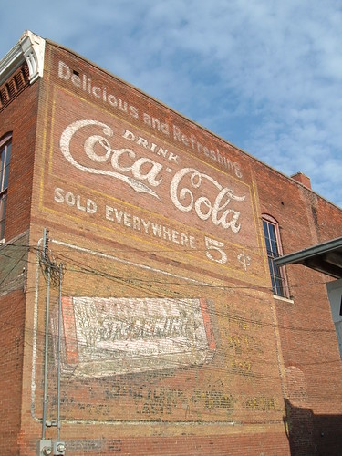Coke Sign on Building