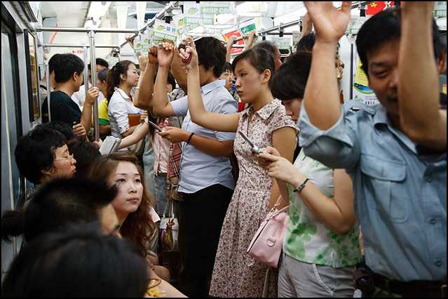 crowded subway train - Beijing | Flickr - Photo Sharing!