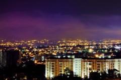 Escazu costa rica, Colored clouds at night in Costa Rica