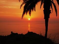Peru-Lima  - Sonnenuntergang v. Miraflores aus gesehen  -7,64