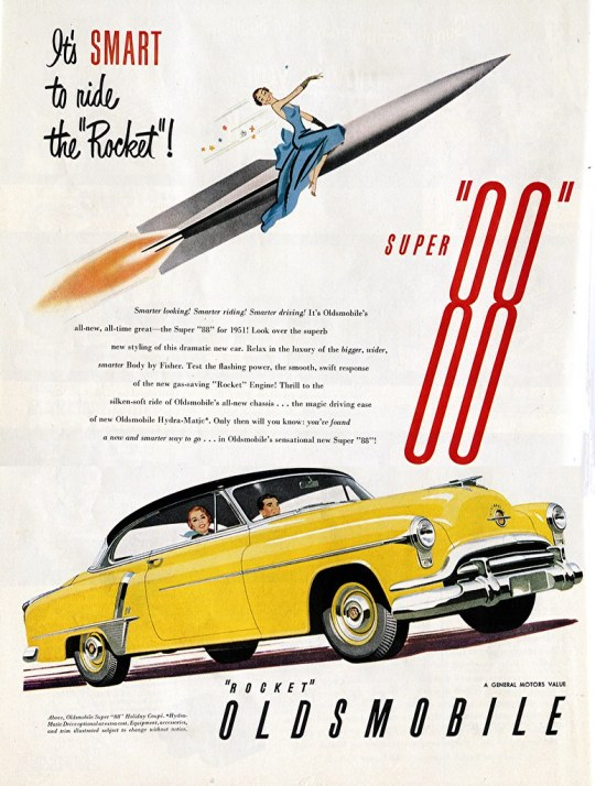 1958 Oldsmobile Super 88 Holiday Coupe - published in Life - July 2, 1951