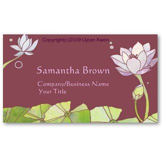 Elegant Lotus Flowers Business Cards