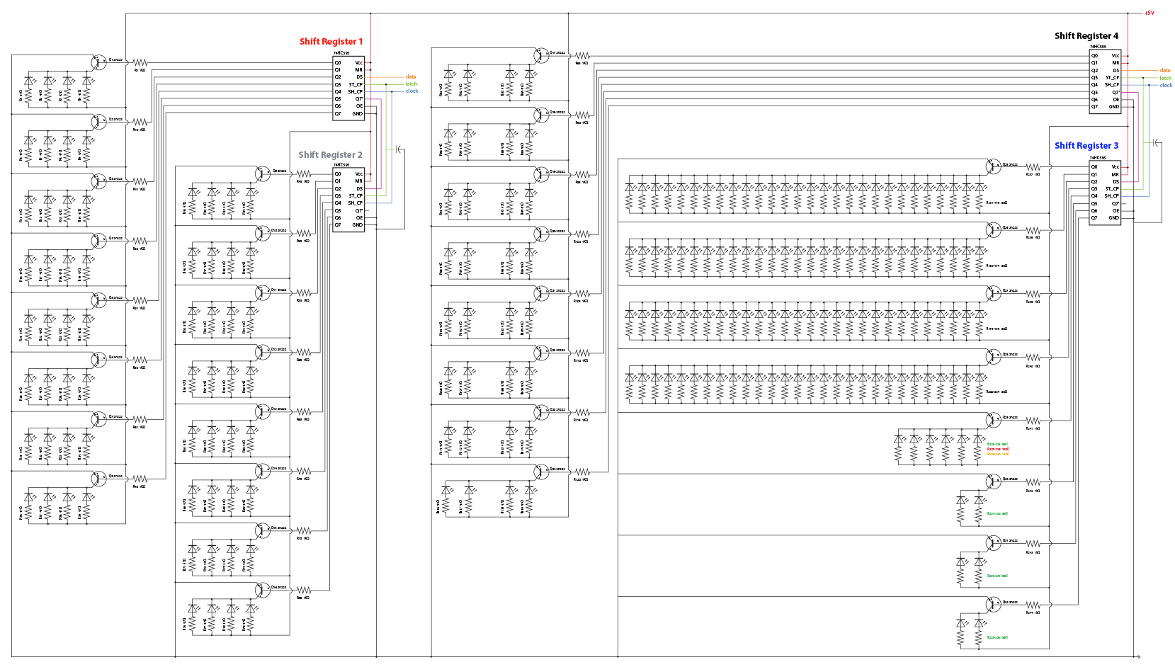 Schematic Of Shift Registers