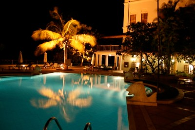 Serena hotel at night