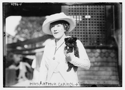 """Mrs. Arthur Carrol and """"Pom Pom"""" (LOC)"""