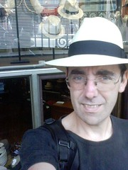 Portrait of Jonathan O'Donnell, wearing a fine new hat