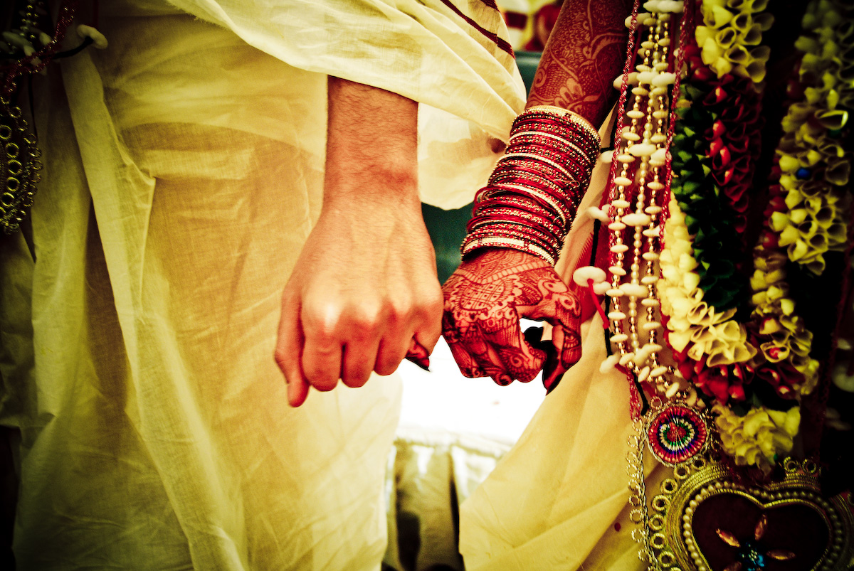 Hands at Indian wedding