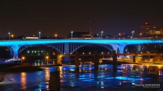 New I-35W Bridge in Blue, 19 Feb 2009