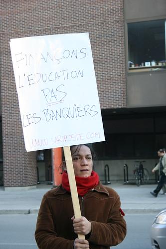 Finançons l'éducation pas les banquiers  Financons l'education pas les banquiers