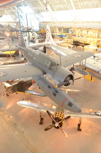 Steven F. Udvar-Hazy Center: South hangar panorama, including Vought OS2U-3 Kingfisher seaplane & B-29 Enola Gay, among others by Chris Devers, on Flickr