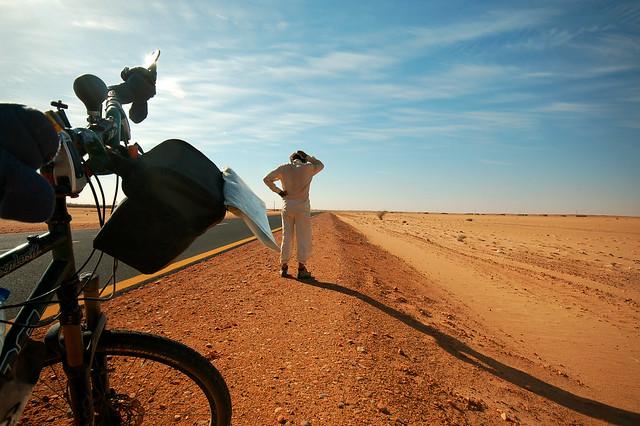 Alone in the Sudanese desert