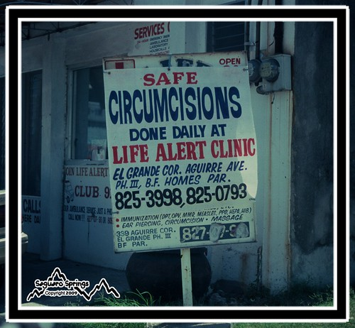 Circumcision sign in the Philippines
