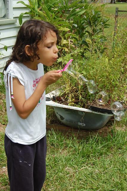 Blowing Soap Bubbles  (2/2)