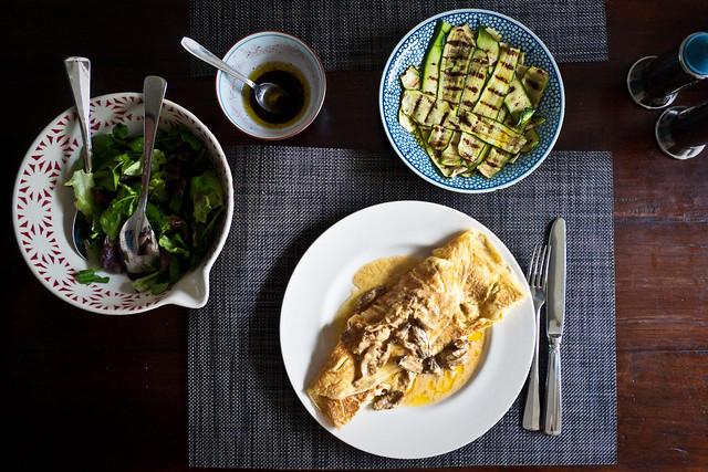 Omelette aux morilles