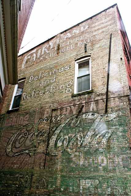 Fairyland: Pictures Changed Daily. Weston, WV ghost signs. Photo by Jen Baker/Liberty Images; all rights reserved (though pinning is okay).
