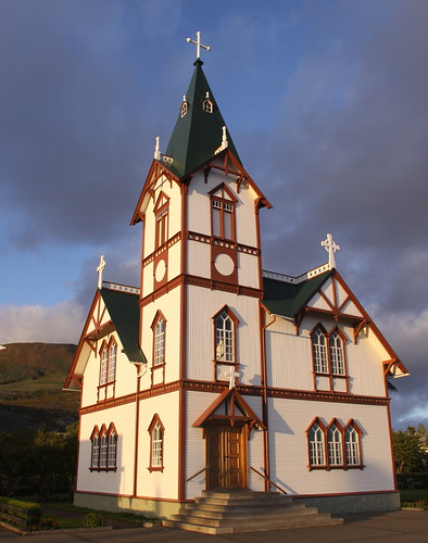 Husavik Curch at Sunset 1