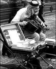 street musician Prague