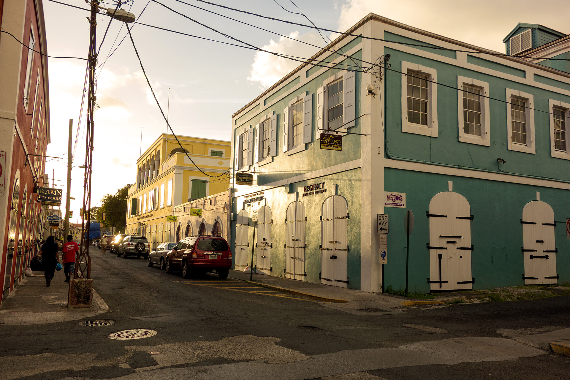 Main Street of Charlotte Amalie, St. Thomas.