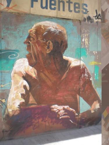 Graffiti Granada.Big man
