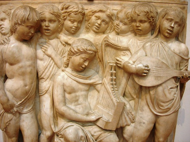 Panel from Luca della Robbia's Choir, originally in the Duomo, now in the OPA by Ed Petrick on Flickr