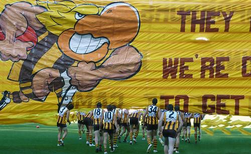 Hawks Banner run through