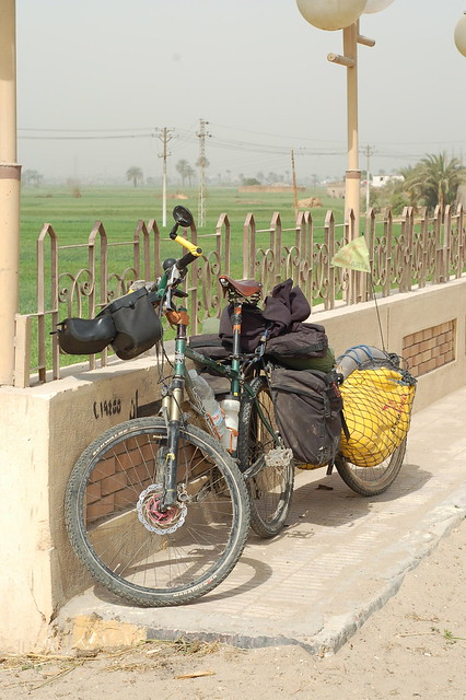 My bike in the Nile Valley